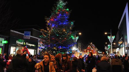 Lowestoft Christmas Lights switch on in the town centre.November 2013.Picture: James Bass