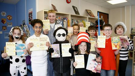 Some of Clockhouse Primary School's best-dressed pupils of World Book Day 2016. Picture: Sandra Rows