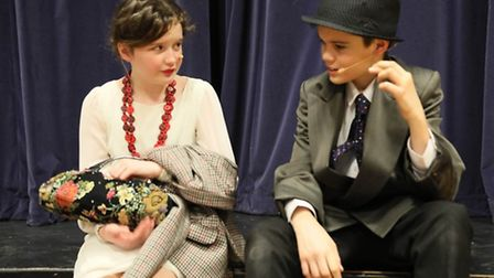 Blousey Brown played by Isobel O'Neill with William Hyde who played Bugsy Malone.