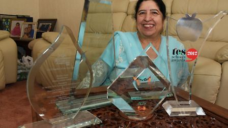 Bushra with a selection of her awards