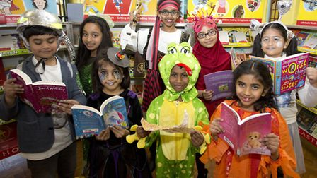 Children celebrating a previous World Book Day at Uphall Primary School