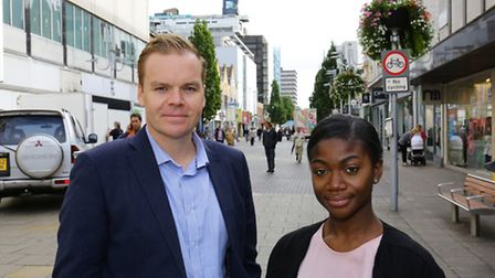 Ben Collins and Wilma Sagoe in the high road