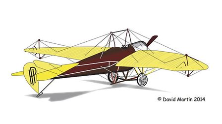 An artist's impression of the Yellow Peril created by Handley Page. Photo: David Martin