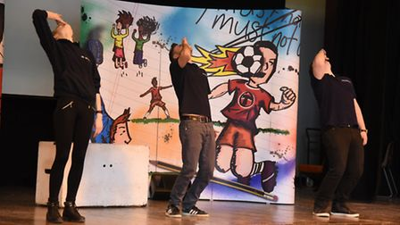 Smashed, a play about underage drinking being performed to students at the Bower Park Academy.