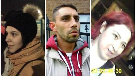 These three are wanted in connection with cards placed in Green Street (Pic: Newham Council)