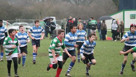 Wanstead under-13s in action against Cheshunt
