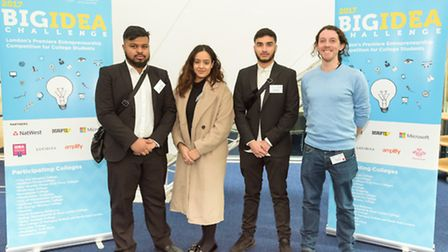 Redbridge College students Kiran Riaz, Mahfuz Choudry and Shafin Hussain are competing in this year'