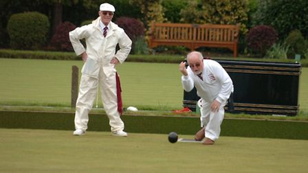 St Chad's Bowling Club in 2012 - Arthur Blackmore and Derick Berry