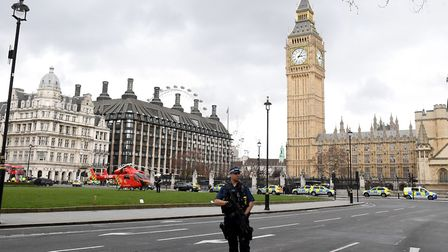 Security at Westminster. Picture: Victoria Jones/PA Wire