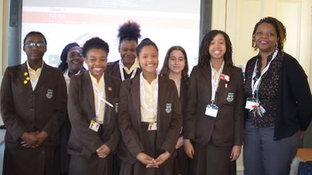 The St Angela's Ursuline school report team (Picture: Jerrica Bangura)