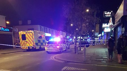 The scene after the fatal shooting in Ilford Lane. Picture: Twiter Boy
