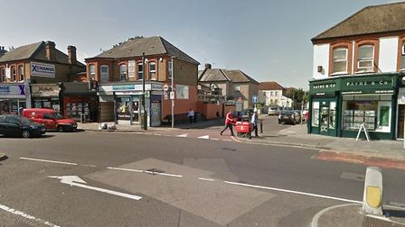 The junction of Beal Road and Cranbrook Road in Ilford where a man was found stabbed on Friday night