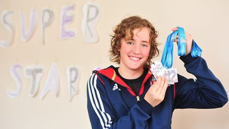 Lowestoft disability swimmer Katie Nesbitt won three medals in Brazil in the Paralympic School Games