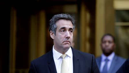Michael Cohen, former lawyer to U.S. President Donald Trump, exits the Federal Courthouse on August