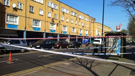 The murder took place in Freemasons Road. Picture JON KING