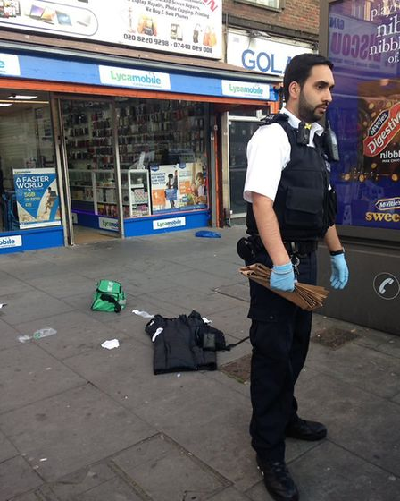 Police were called to reports of a fight outside a shop in Cranbrook Road, Gants Hill, earlier this