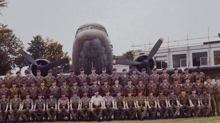 Steve (back right) with his comrades