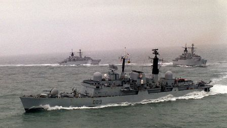 HMS Exeter, on which Ron served, photographed in 1991. Picture: Barry Batchelor/PA