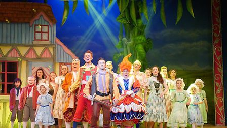 Lowestoft Players perform Jack and the Beanstalk at the Marina Theatre in Lowestoft.