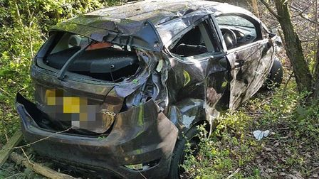 Fortunately no one was injured in the crash. Pic: Met Police