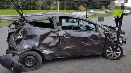 Wreckage from the crash. Picture: Met Police
