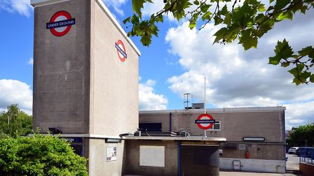 Wanstead underground station was designed by Charles Holden in 1947. Photo by George Rex.