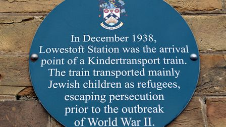 A Holocaust Memorial day has been heled at Lowesft's railway station, where child refugees arrived i