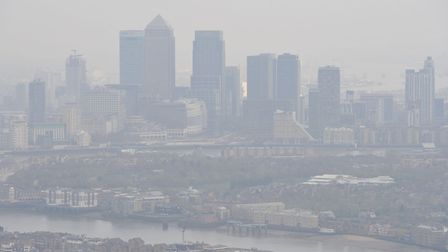 Air pollution over London. Picture: Nick Ansell/PA
