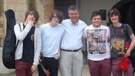 Steve Beckingham with the Ukelele band he founded