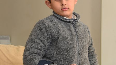Hartej Bhogal aged 5. Picture Ken Mears