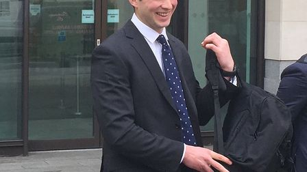 Wanstead Pc Joshua Savage leaves Westminster Magistrates Court after allegedly being caught on camer