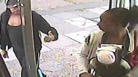 CCTV footage of Jeffrey Wiltshire giving Rosalin Baker a thumbs up