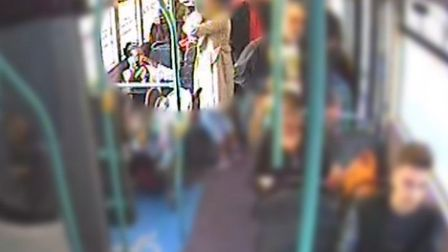 CCTV footage of a passenger trying to help Imani