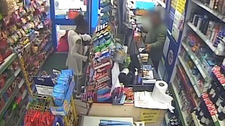 CCTV footage of Rosalin Baker inside a shop on the morning of Imani's death