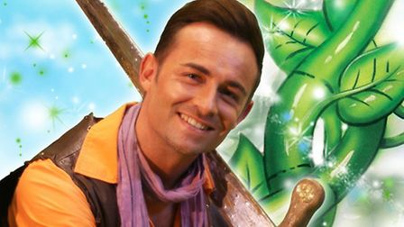 Lowestoft Players panto - Jack and the Beanstalk. Jack Trott, played by Lee Nevill.