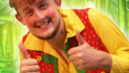 Lowestoft Players panto - Jack and the Beanstalk. Billy Trott, played by Lewis Caplin.
