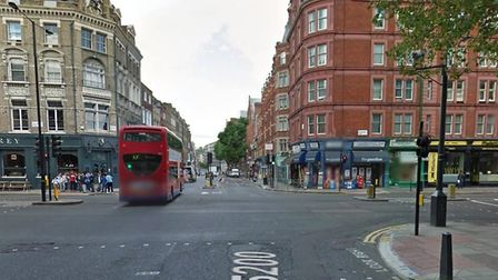 The minicab driver was distracted by his phone at this junction in Islington. PICTURE: Google Street