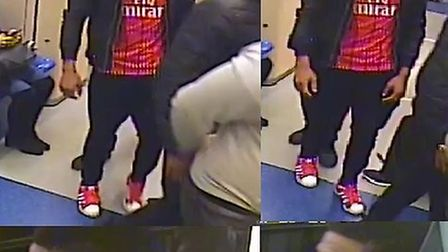 Police want to speak to this man about the assault on the DLR.