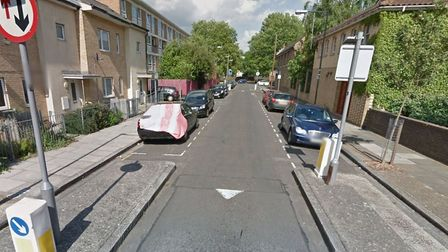 The attack took place in Whitethorn Street in Bromley-by-Bow. Picture: GOOGLE