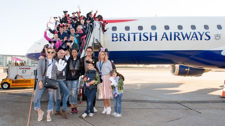 Louie Spence, Stacey Solomon; Singer, Alesha Dixon, Joe Swash and Lydia Bright with children from th