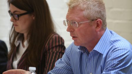 John Cryer at the Wanstead Society Hustings last year. Picture: Ellie Hoskins