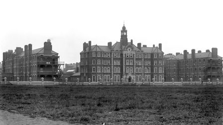 The Hammersmith Workhouse, London, c1900.