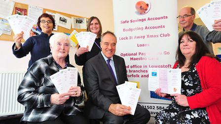 CREDIT UNION LEADS FIGHT BACK AGAINST PAYDAY LENDERS IN LOWESTOFTRichard Howitt MEP with staff and v