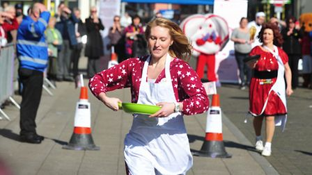 Lowestoft pancake races 2014.