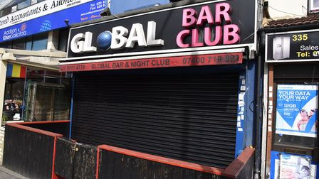 The Global Bar in Ilford High Road