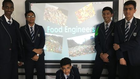 This team from Brampton Manor Academy was named one of the winners in The Bright Ideas Challenge