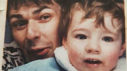 Jason as a toddler with his dad. Pictures: BBC Panorama