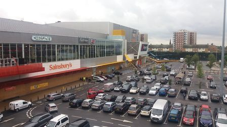 The Brewery car park where a 20 year old was stabbed. Picture: Ken Mears