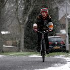 A flurry of snow in Norwich this morning (Saturday).Picture: ANTONY KELLY