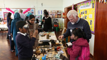 Pop-up museum at Gearies Primary School, where pupils put on their own history exhibitions with the